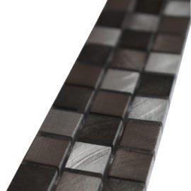 Mozaiek tegelstrip aluminium 5x30cm B800 Topmozaiek24