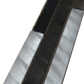 Mozaiek tegelstrip aluminium glas 5x30cm B701 Topmozaiek24