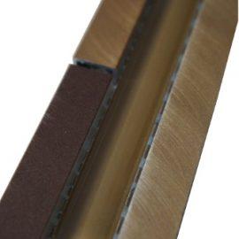 Mozaiek tegelstrip aluminium glas 5x30cm B702 Topmozaiek24