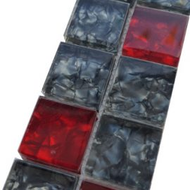 Mozaiek tegelstrip glas 5x30cm B225 Topmozaiek24