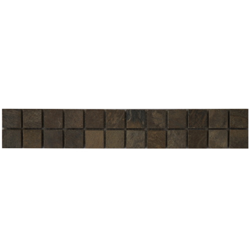 Mozaiek tegelstrip leisteen 5x30cm B499 Topmozaiek24