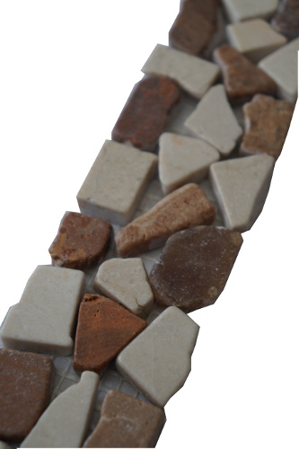 Mozaiek tegelstrip marmer 5x25cm B478 Topmozaiek24