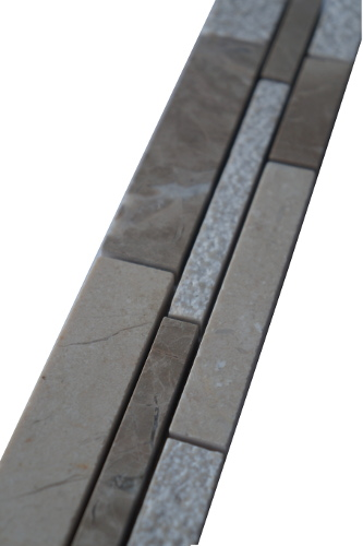 Mozaiek tegelstrip marmer 5x30cm B036 Topmozaiek24