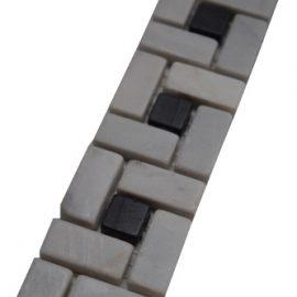 Mozaiek tegelstrip marmer 5x30cm B512 Topmozaiek24