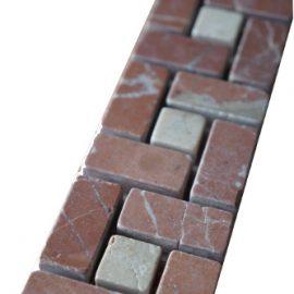 Mozaiek tegelstrip marmer 5x30cm B524 Topmozaiek24