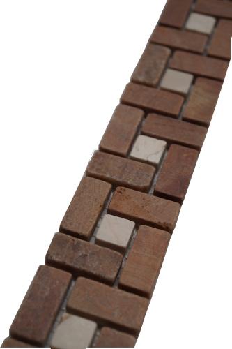 Mozaiek tegelstrip marmer 5x30cm B525 Topmozaiek24