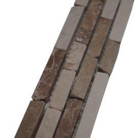 Mozaiek tegelstrip marmer 5x30cm B610 Topmozaiek24
