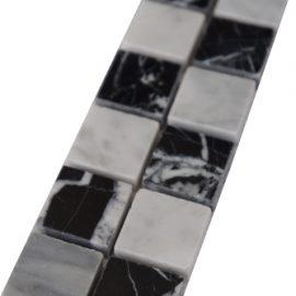Mozaiek tegelstrip marmer 5x30cm B661 Topmozaiek24