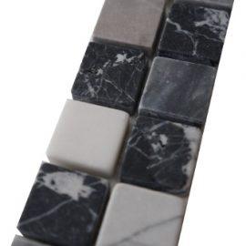 Mozaiek tegelstrip marmer 5x30cm B662 Topmozaiek24