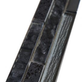 Mozaiek tegelstrip marmer glas 5x30cm B447 Topmozaiek24