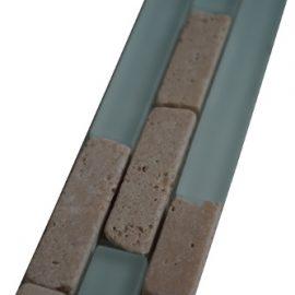 Mozaiek tegelstrip marmer glas 5x30cm B556 Topmozaiek24
