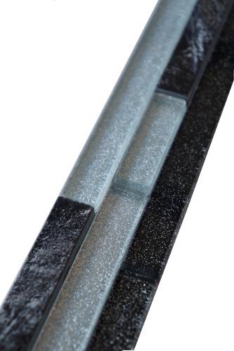 Mozaiek tegelstrip marmer glas 5x30cm B632 Topmozaiek24