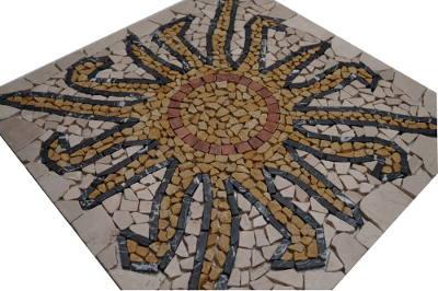 Mozaiek tegels met zon patroon
