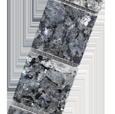 Tegel Blue Pearl 4,8 strip diagonaal