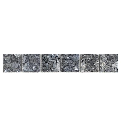 Tegel Blue Pearl 4,8 strip boven