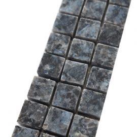 Mozaiek tegelstrip graniet 5x30cm Blue Pearl B044 Topmozaiek24