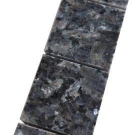 Mozaiek tegelstrip graniet 5x30cm Blue Pearl B045 Topmozaiek24