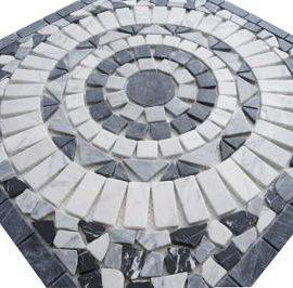 Mozaiek tegels badkamer en keuken