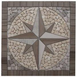 Mozaiek tegels windroos