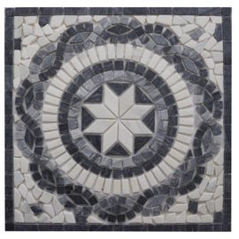 Zwarte mozaiek tegels voor vloer