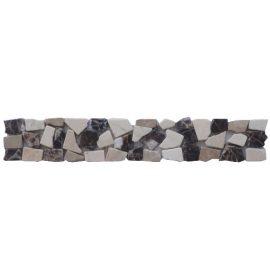 Mozaiek tegelstrip marmer 5x30cm B483 Topmozaiek24