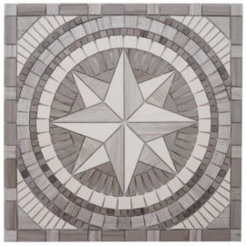 Mozaiek tegels met windroos