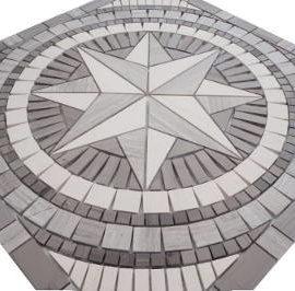 Marmer Natuursteen in grijs mozaiek