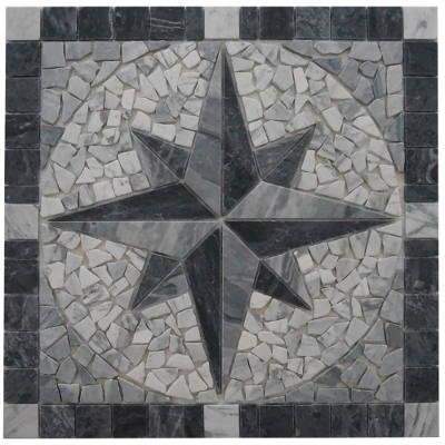 Bianco Carrara marmer natuursteen tegels van mozaiek