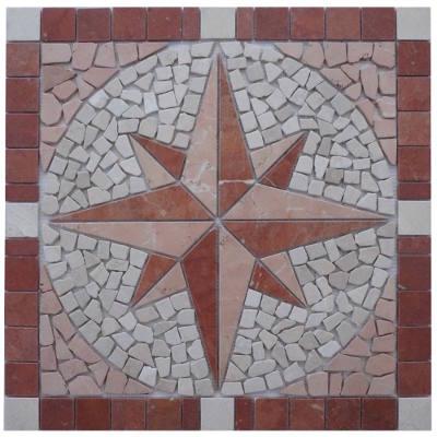 Mozaiek tegels van marmer natuursteen in rood