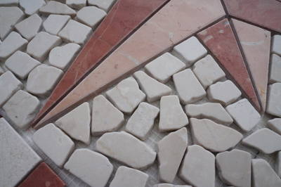 Mozaiek steentjes van marmer