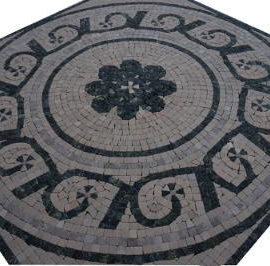 Mozaiek tegels van Bardiglio marmer