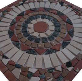 Mozaiek tegels van Botticino marmer