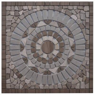 Mozaiek tegels van grijs marmer