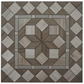 Mozaiek tegels in grijs en bruin