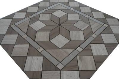 Mozaiek steentjes in grijs en bruin