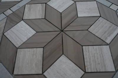 Marmer natuursteen in grijs en bruin