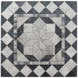 Mozaiek tegels in zwart marmer