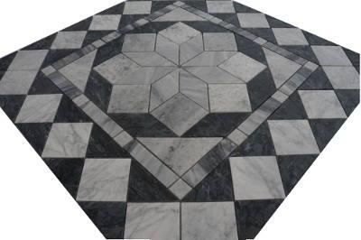 Mozaiek tegels in zwart natuursteen