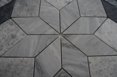 Mozaiek steentjes roos uit mozaiek