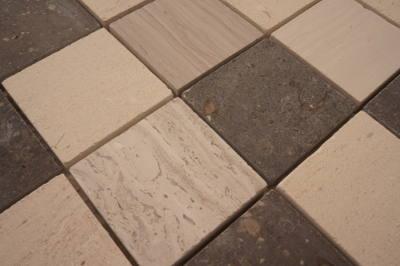 Grote mozaiek steentjes voor keukenvloer en badkamervloer