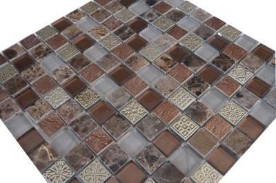 Natuursteen vloertegels van marmer en glas