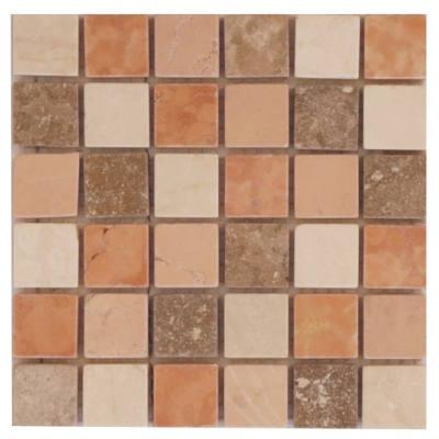 Mozaiek tegels met travertin marmer