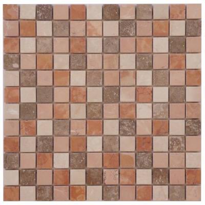 Mozaiek wandtegels en vloertegels van travertin marmer