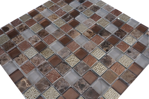 Mozaiek tegels marmer glas 30x30cm M187 Topmozaiek24