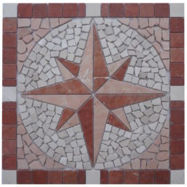 Mozaiek tegels medallion 60x60cm 072 Topmozaiek24
