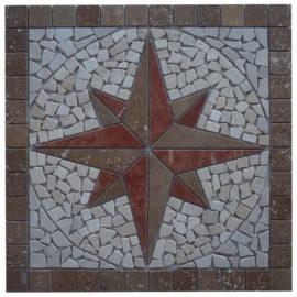 Mozaiek tegel medallion 60x60cm 51078 Topmozaiek24