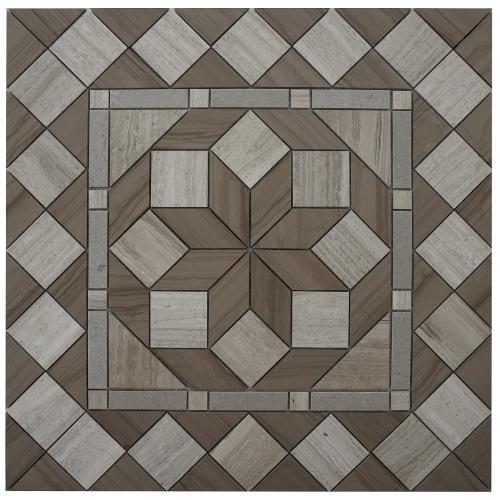 Mozaiek tegel medallion in modern design | Topmozaiek24 - de grootste!