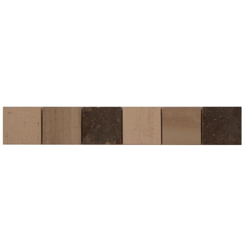 Mozaiek tegelstrip marmer 5x30cm B042 Topmozaiek24