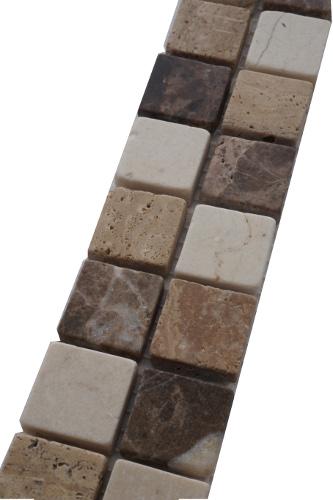 Mozaiek tegelstrip marmer 5x30cm B571 Topmozaiek24
