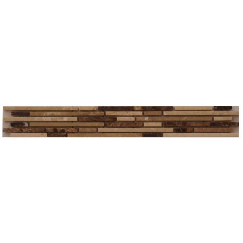 Mozaiek tegelstrip marmer 5x30cm B609 Topmozaiek24